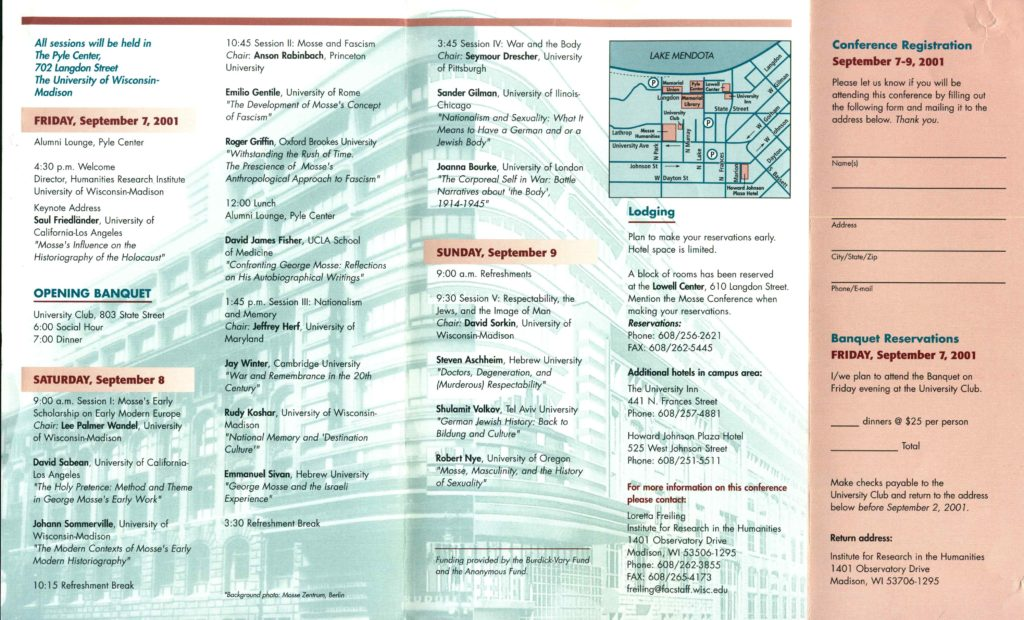 2001.09.07-09 - An Historians Legacy Mosse Program