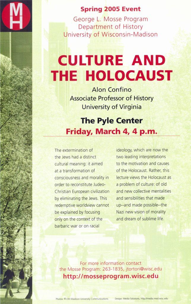 2005 - Alon Confino - Culture and the Holocaust