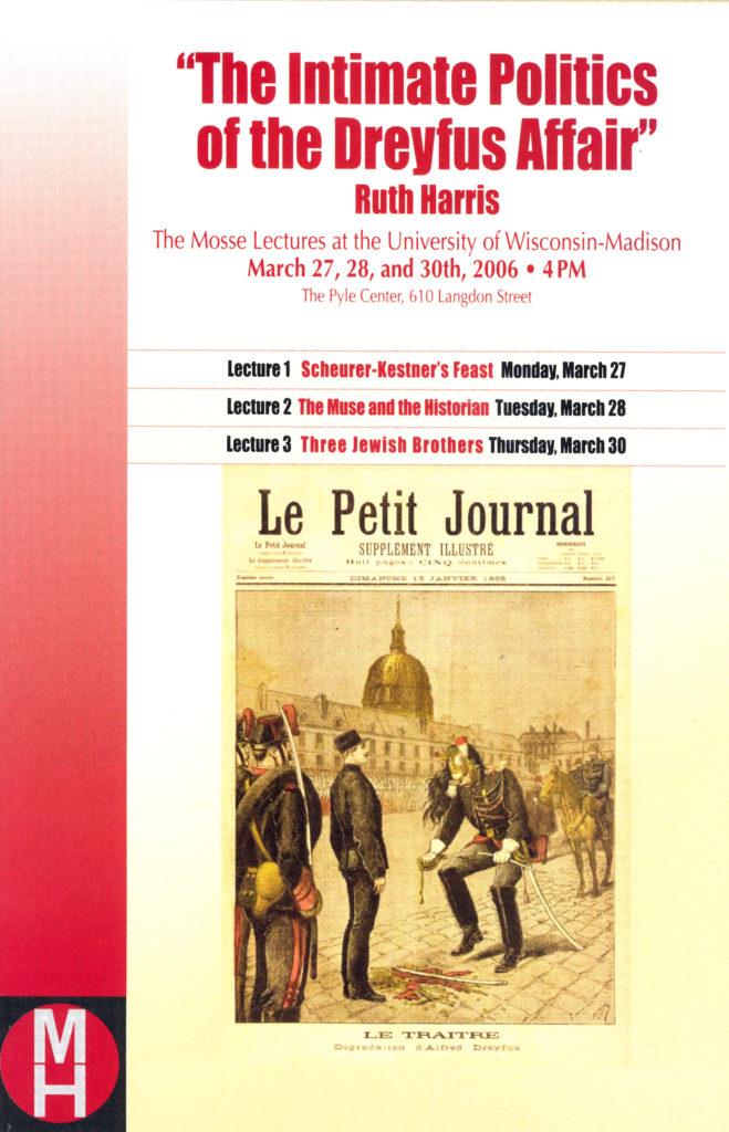 2006.03.27-30 - Ruth Harris - Intimate Politics of the Dreyfus Affair 01