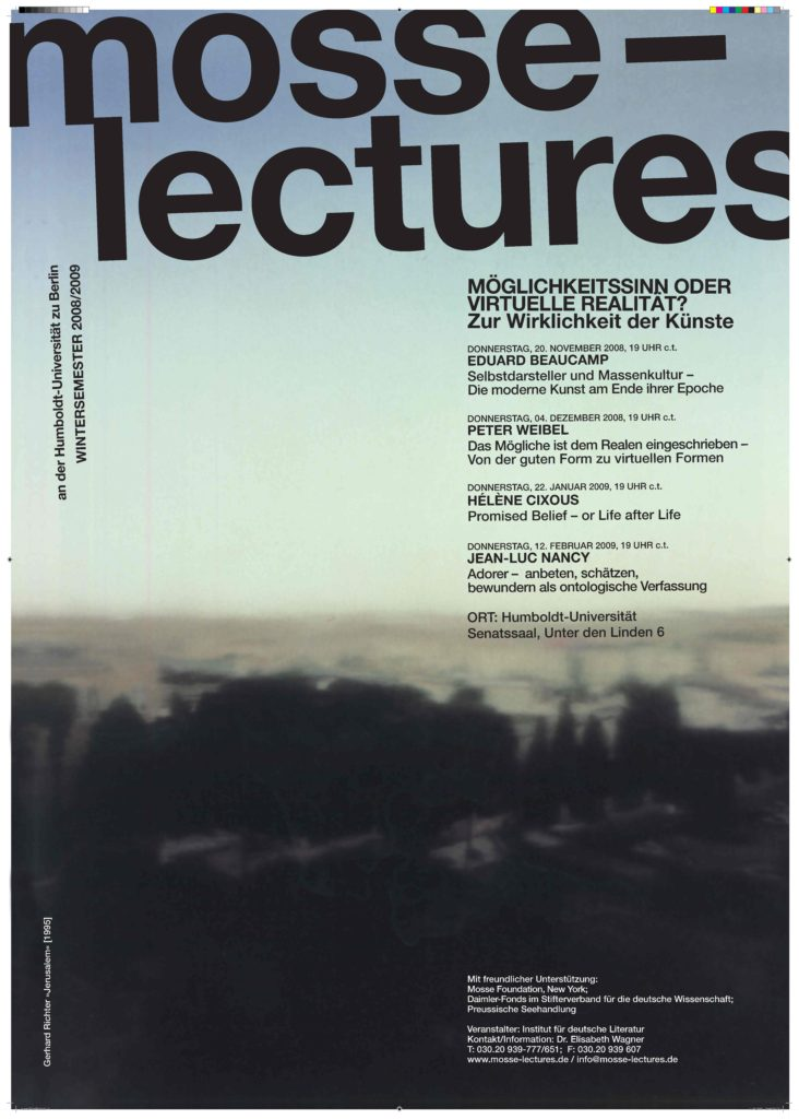 2008-2009 - Mosse-Lectures