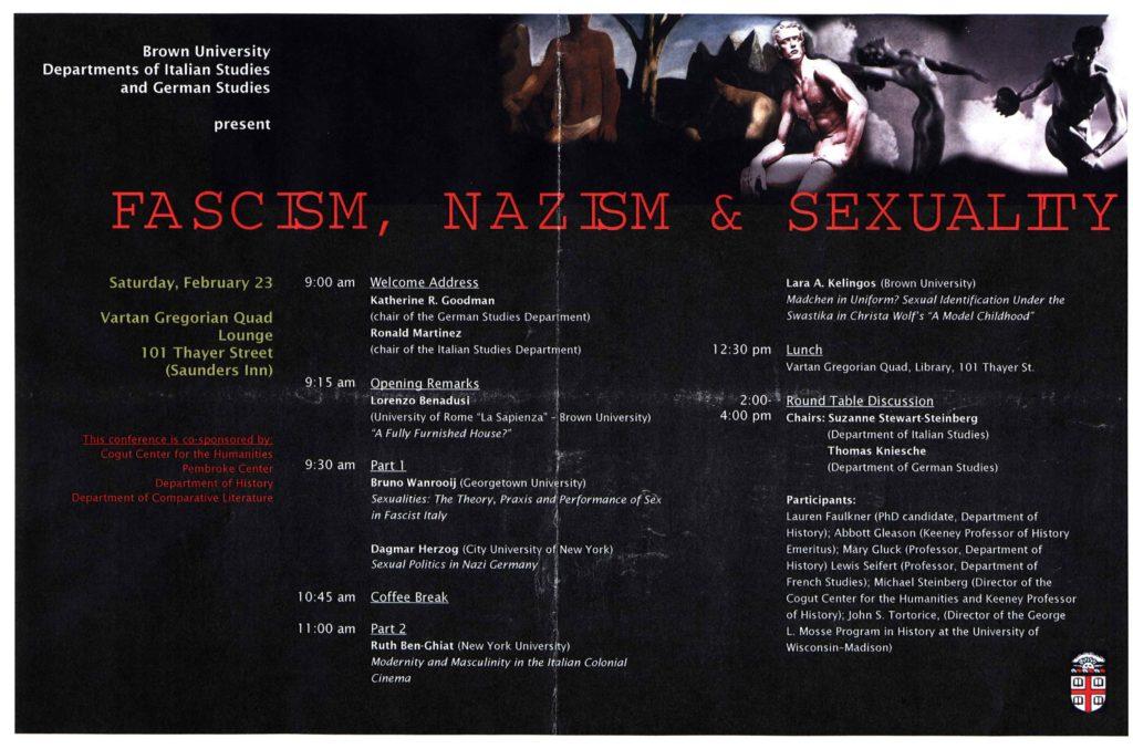2008.02.23 - Fascism, Nazism Sexuality
