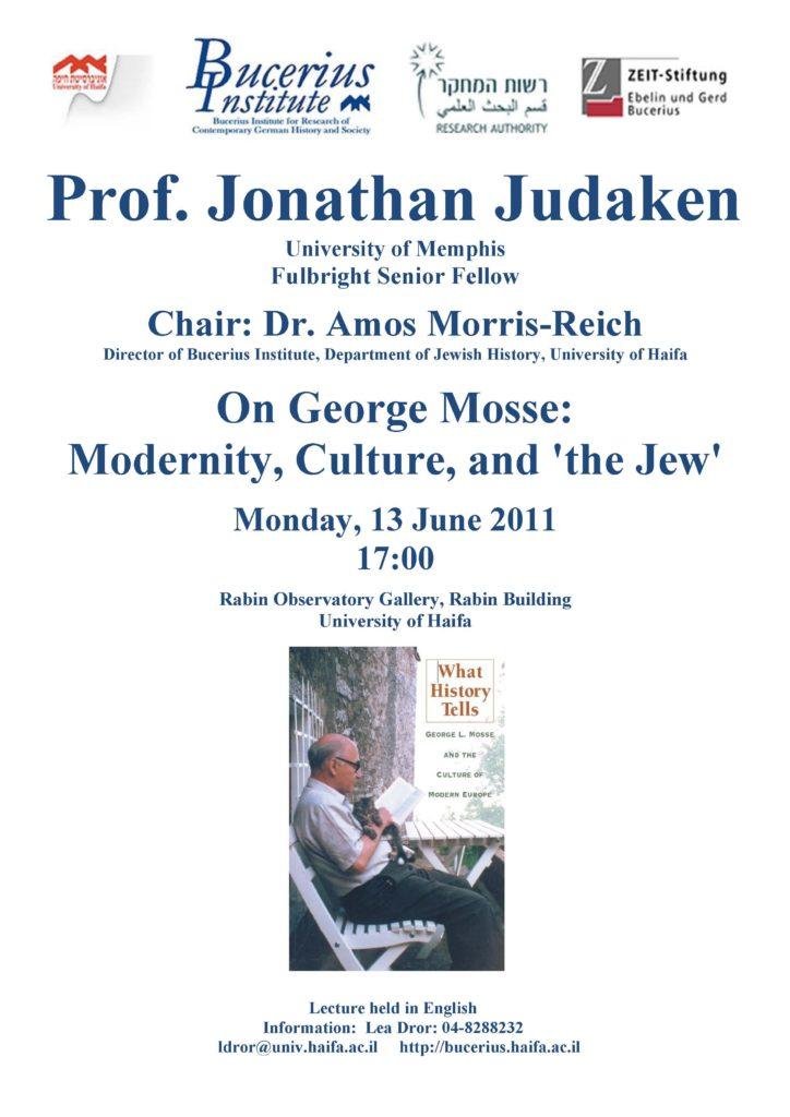 2011.06.13 - Jonathan Judaken - On George Mosse