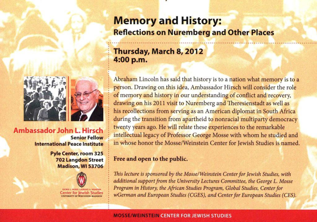 2012.05.08 - John Hirsch - History and Memory 03
