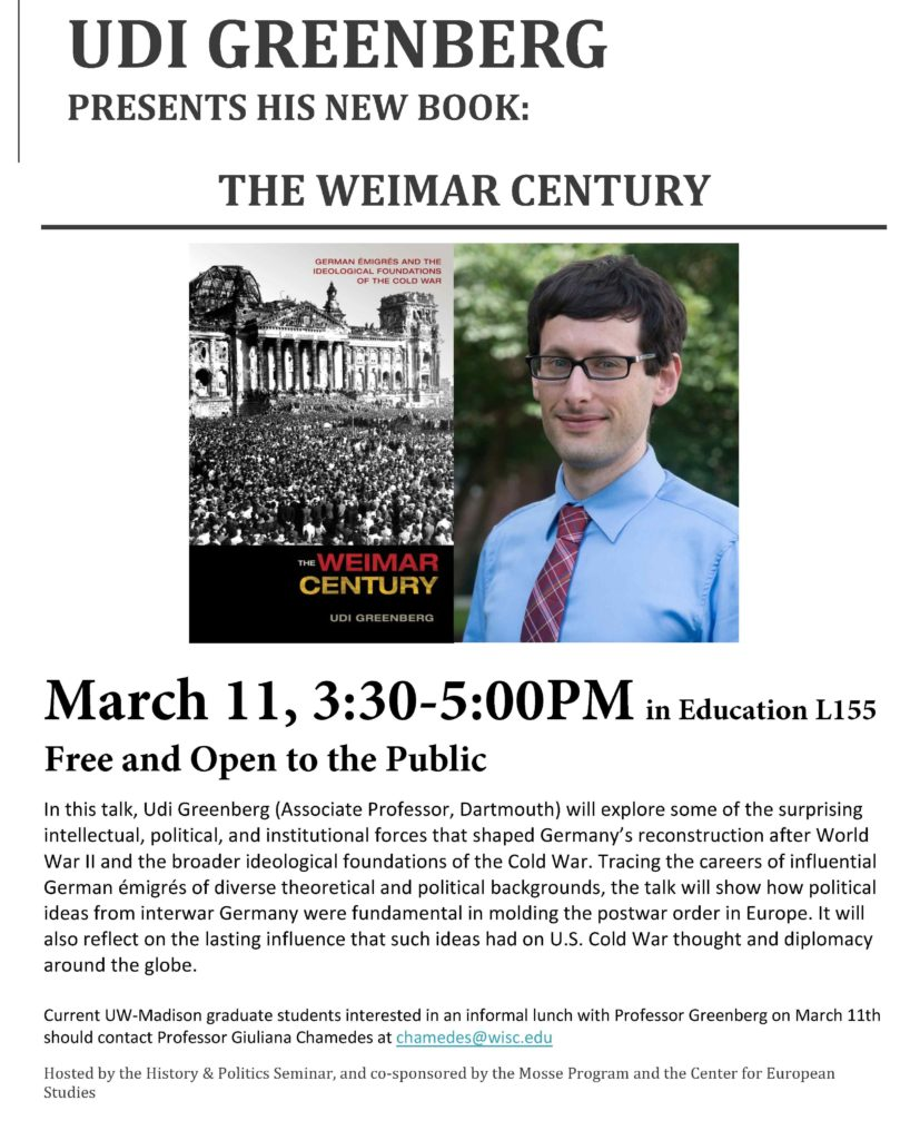 2016.03.11 - Udi Greenberg - Weimar Century 04