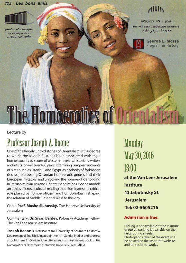 2016.05.30 - Joseph Boone - Homoerotics of Orientalism 02