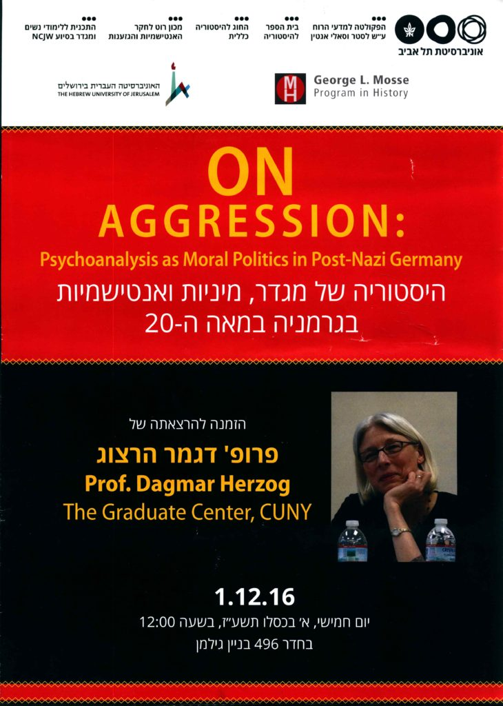 2016.12.01 - Dagmar Herzog - On Aggression 02