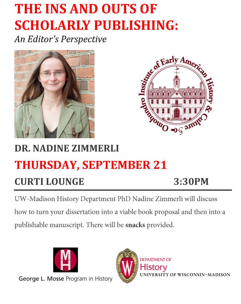2017.09.21 - Nadine Zimmerli on Publishing