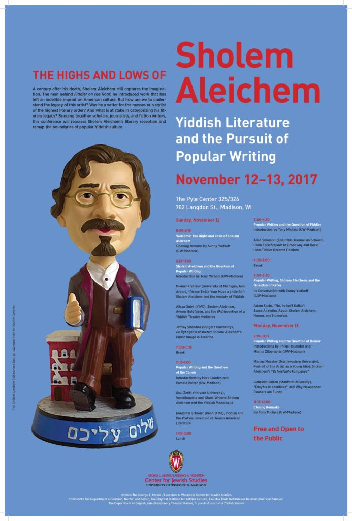 2017.11.12 - Highs and Lows of Sholem Aleichem