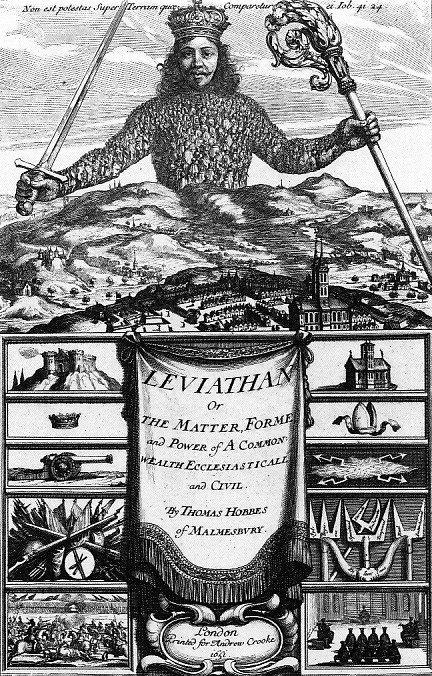 1651 - Hobbes Leviathan by Abraham Bosse