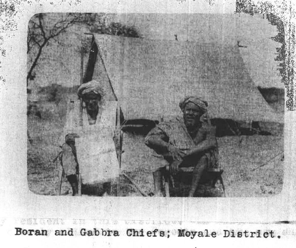 "Boran and Gabbra Chiefs, ""Chiefs"" was a colonial designation."