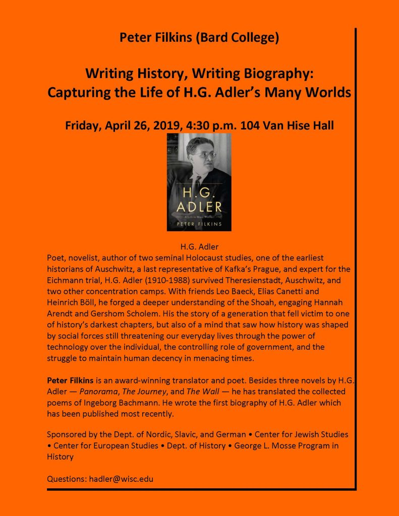 2019.04.16 - Peter Filkins lecture