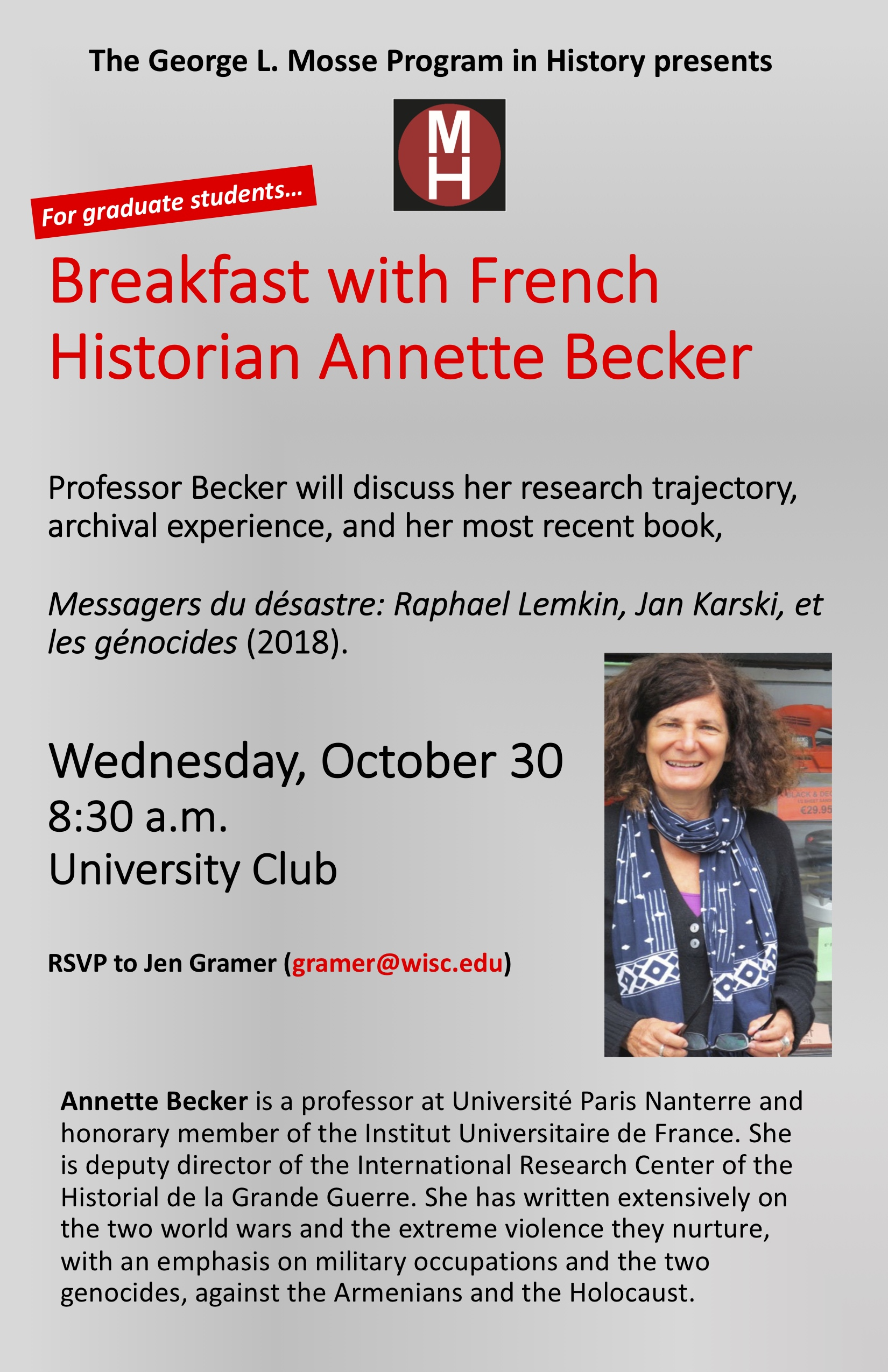 2019.10.30 - Annette Becker poster
