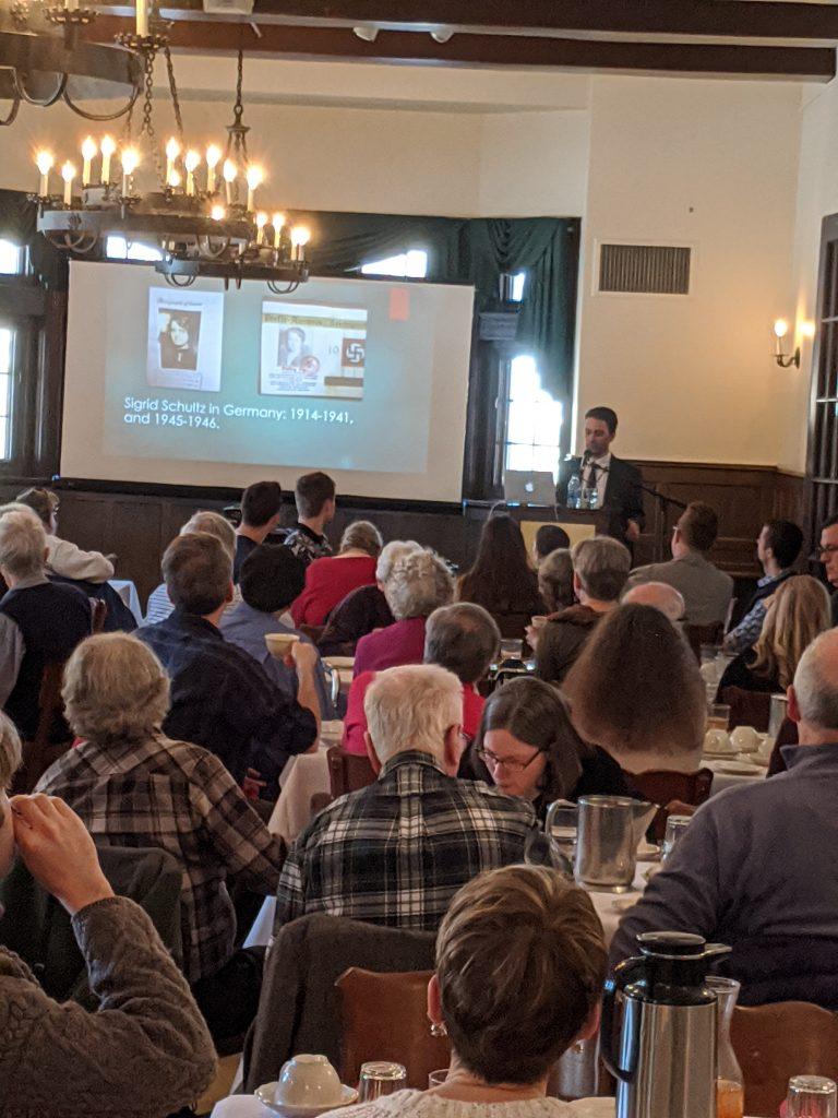 """2020.02.06 - David Milne talk """"Sigrid Schultz: Investigative Reporter who Predicted WWII"""""""