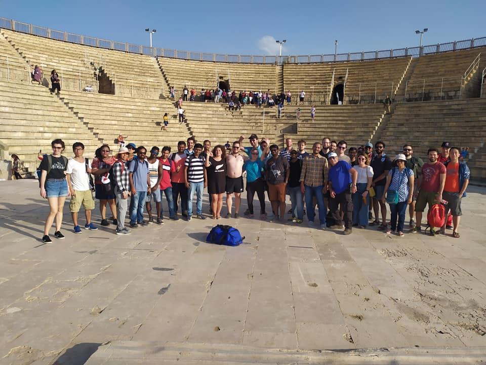 In the Caesarea amphitheater