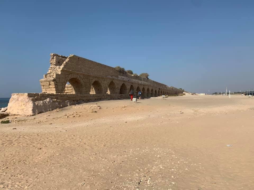 Caesarea aqueduct, photo by Abigail Lewis.